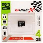 Карта памяти Hi Rali  micro SD (4 Гб)