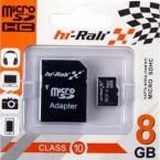 Карта памяти.. Hi Rali  micro SD (8 Гб)