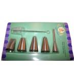 Кондитерские насадки металл + щетка YCT-18 / 822-7-26  *38351