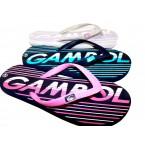 Шлепки  * Gambol 18307 розовый, сиреневый, зеленый