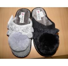 Тапочки женские * SPORTS 180925-259 рюша/помпон*16259