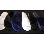 Тапочки женские * 2311-362 мех черный, синий, беж