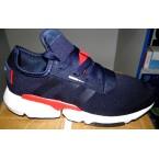 Кроссовки * Adidas  402-3 синий с красным