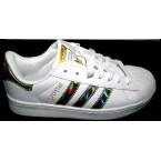 Кроссовки * подростковые Adidas  В - 3029-3 белый с золотом