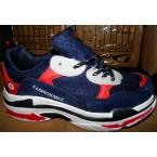 Кроссовки подростковые * Bonote 8707-3 синий с красным