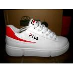 Mокасины * IDEAL-FILA W 66 белый с красным  *18763