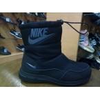 Ботинки подростковые * Nike 824-5 черный дутик