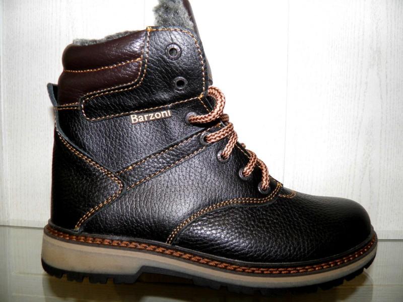 c86a8f65 Купить ботинки подростковые Barzoni 510 коричневый. Интернет магазин ...
