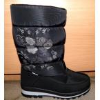 Ботинки подростковые ** Gogc 9620-1 черный цветы