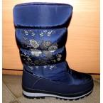 Ботинки подростковые ** Gogc 9620-7 синий цветы