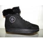 Ботинки женские ** LB L129-1 черный зимние