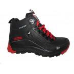 Ботинки подростковые * Splinter 7716 черный с красным