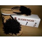 Шлепки * Kamengsi 143 черный * 20125