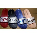 Шлепки * Super 579-2 синий, красный, черный, бежевый * 20686