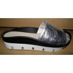 Шлепки * Angelina 6620-95 серебро