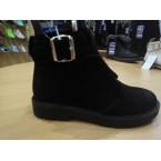 Ботинки женские ** Weles 1840  замш черные зимние