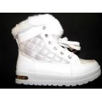 Ботинки подростковые ** Ideal K 1155 белый