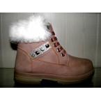 Ботинки женские ** Ideal 833 пудра зимние