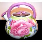 Чайник  Zauberg FT 20  эмалированный со свистком 3 л *37662