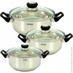 Набор посуды Rotex RC011-6L Bergamo ***