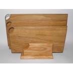 Набор досок разделочных деревянных 0048