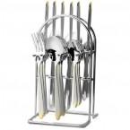 Столовый набор на стойке Maestro MR 1528 Фраже 24 пр***