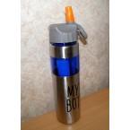 """Бутылка-поилка  метал +пластик """"Колба для льда"""" МВ 1070 ( 1 л)"""