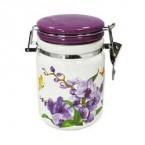 Емкость для сыпучих INTEROS 104061-1 с клипсой ( 900 мл) орхидея