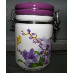 Емкость для сыпучих INTEROS 104061-2 с клипсой ( 750 мл) орхидея