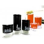 Емкость для сыпучих стекло цветное однотонное  (3шт) JARS 800 *33576