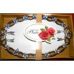 Блюдо FRUITS Plate 169 овальное фарфор