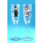 Бокалы .. для шампанского JUST Married, свадебные (2 шт) 35609
