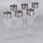 Бокалы для шампанского Гусь Хрустальный 01-1687, Греческий узор