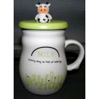 "Чашка 8030-16 ""Молоко-энергия"" с крышкой 420 мл  *35914"