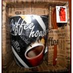 "Чашка  Bona Di  334-407 ""Coffe""  350 мл с ложкой"