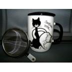 """Чашка Bona Di 380-401 """"Черный кот"""" заварник *39867"""