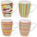 Чашка фарфоровая Цветная геометрия Полоски 577-508