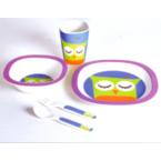 """Набор детский для завтрака ЭКО посуда из бамб. волокна СВ-250 """"Сова"""""""