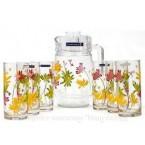 Набор для напитков с графином Luminarc, Crazy Flowers 4621