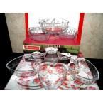 Салатники набор стекло NORITAZEH Клубничка (600701W) 6 шт