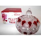 """Конфетница стекло 315 Ristal 87 V """" Рубин"""" *13855"""
