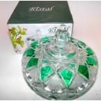 "Конфетница стекло 316 Ristal 87-1 V ""Изумруд"" *19060"