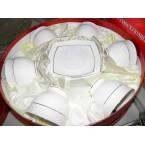 Набор чайный INTEROS 506710 круглые 12 пр (торт) белые *36556