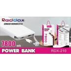 Аккумулятор POWER BANK REDDAX RDX 210 (7800 mAh)
