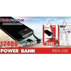 Аккумулятор POWER BANK REDDAX RDX 220 (12400 mAh)