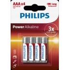 Батарейки Philips Power Alkaline AAA LR6