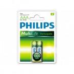 Батарейка аккумулятор Philips MultiLife AAA 1000 mAh